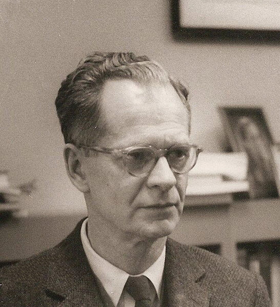This picture shows a portait of B. F. Skinner.