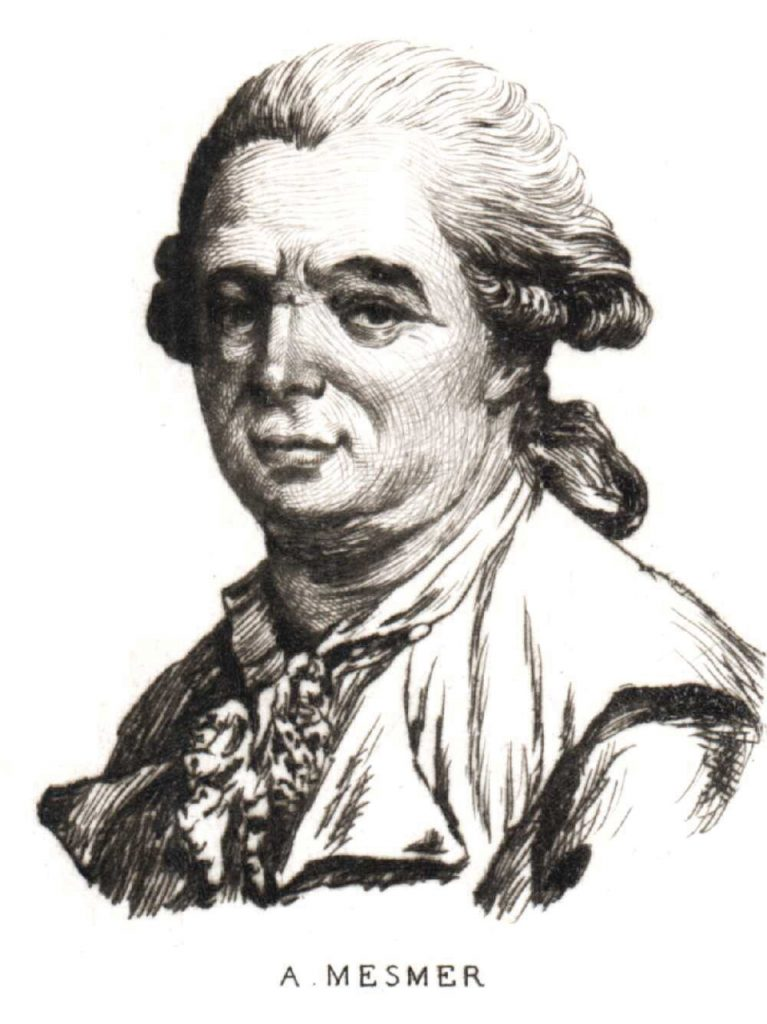 This diagram is a portait of Franz Anton Mesmer.