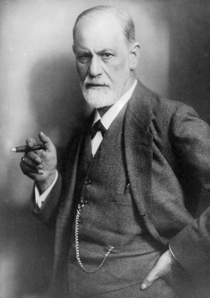 This picture shows a portait of Sigmund Freud.