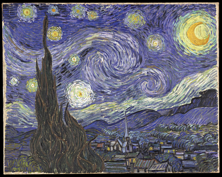"""This picture shows Vincent van Gogh's painting entitled """"Starry Night."""""""