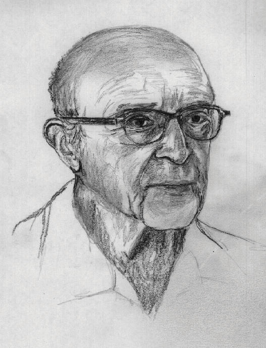 This diagram illustrates a portrait of Carl Rogers.