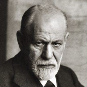 This picture shows a portrait of Sigmund Freud.
